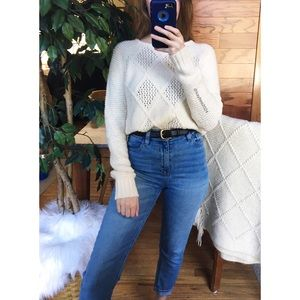 🌿 AEO Soft Cream Woven Knit Sweater 🌿